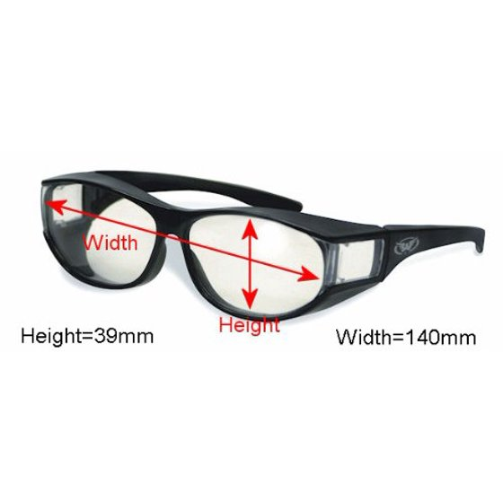 dc81f0cd1a Safety Glasses Over-Prescription Most Prescription Eyewear Smoke Lenses Has  Matching Side Lens to Keep Sun From Coming in on the Sides Great for..