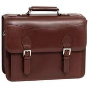Siamod 25064 Belvedere Cognac Leather Double Compartment Laptop Case