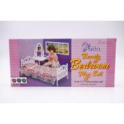 "Gloria Beauty Bedroom Play Set , 11.5"" Barbie Doll size doll house furniture set"