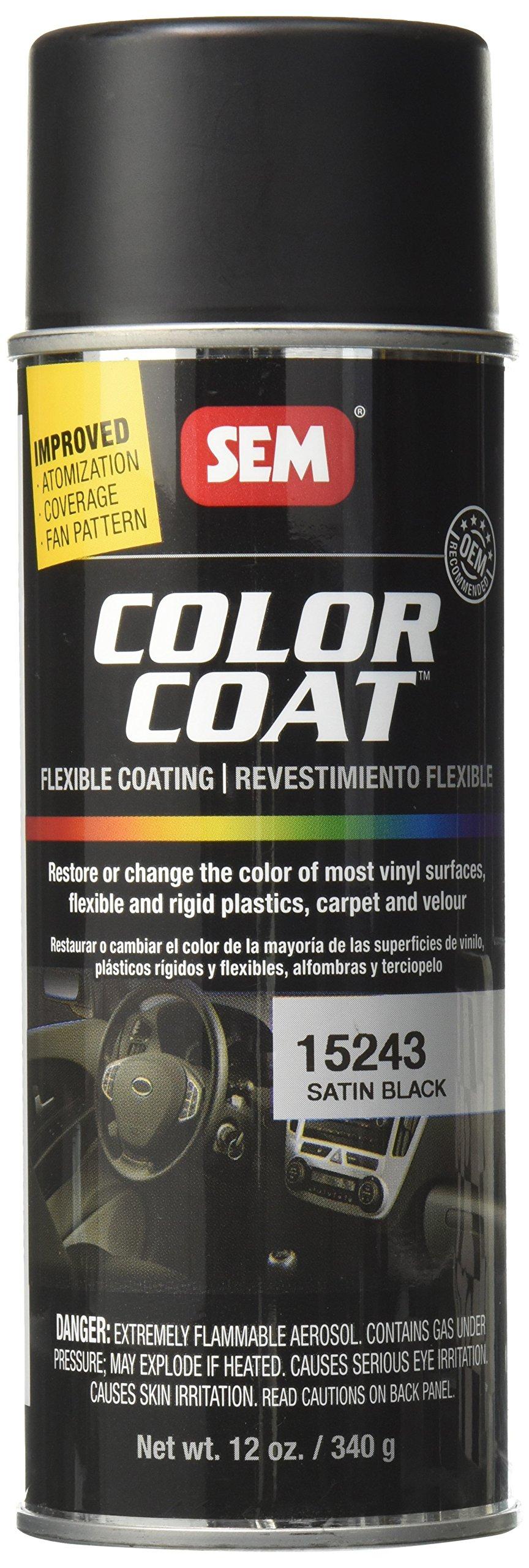 Sem Paints SEM 15243 Color Coat   Satin Black