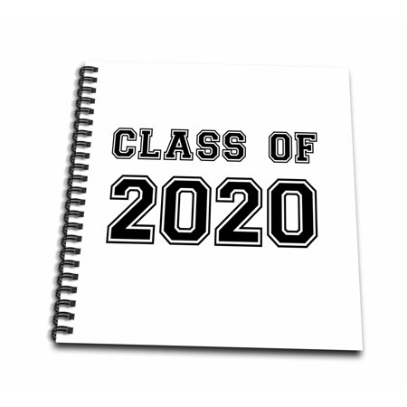 High School Graduation 2020.3drose Class Of 2020 Graduation Gift Graduate Graduating High School University Or College Grad Black Memory Book 12 By 12 Inch