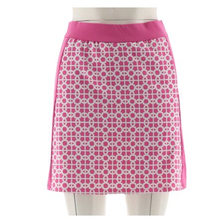 Print Skort (C Wonder Trellis Print Pull-On Skort Pockets A289704)
