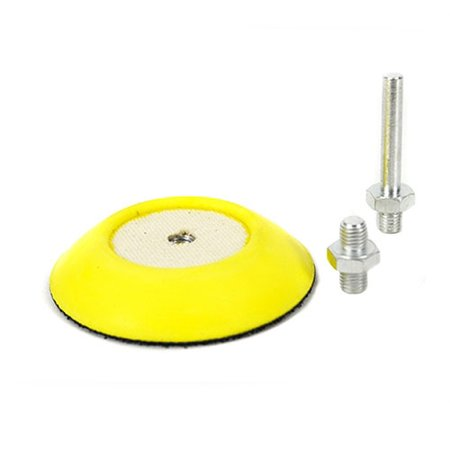 Flex Backing (Chemical Guys BUFLC_BP_D2 Flex Pro Professional Backing Plate with Drill and Dual-Action Adapters (3)