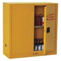 CONDOR 42X499 Flammable Safety Cabinet, 30 gal., Yellow