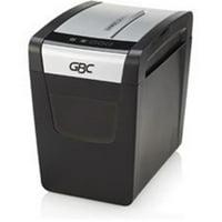 GBC GBC1757406 6 gal P-3 Level Super Cross-Cut Shredder, Black & Chrome