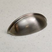 """3"""" Satin Nickel Cabinet Cup Pull Hardware Bin Drawer Handle - (76mm) Hole Centers"""