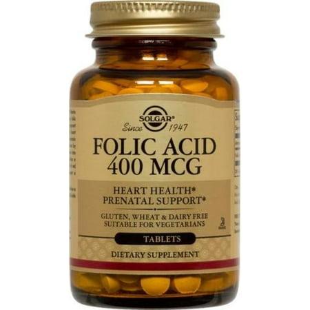 Folic Acid 400mcg Solgar 100 Tabs