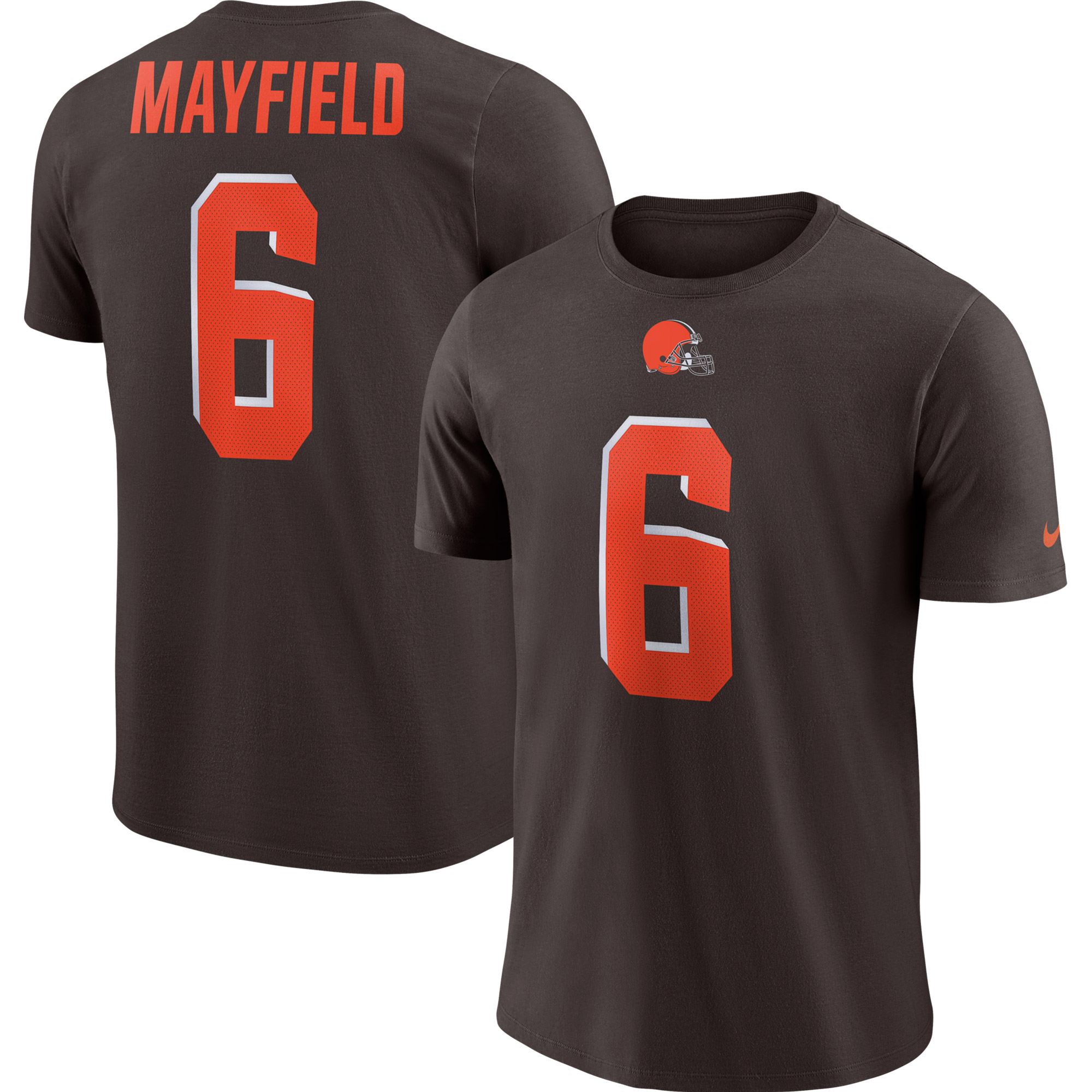 Baker Mayfield Cleveland Browns Nike Player Pride Name & Number Performance T-Shirt - Brown