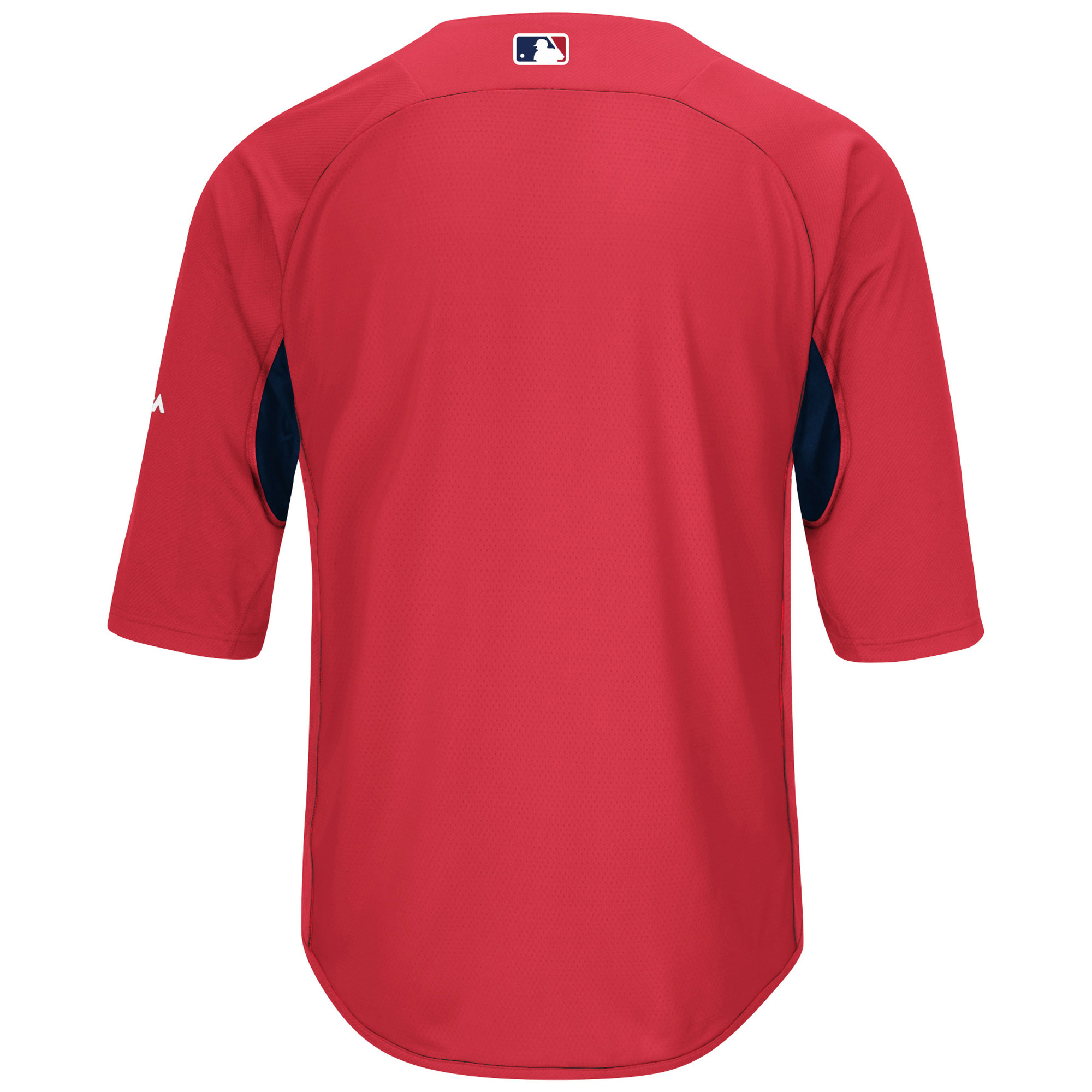 42b77ea68 Boston Red Sox Majestic Authentic Collection On-Field 3 4-Sleeve Batting  Practice Jersey - Red Navy - Walmart.com