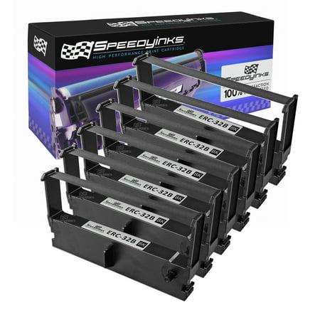 Speedy Inks - Compatible 6PK Black POS Ribbon Cartridges for Epson ERC-32B for TM-935 M820 TM-U150 TM-U420 TM-U675 TM-H6000 TM-H6000II Casio CE-4200 CE-4250 CE-4700 CE-5100 CE-6100 CE-7000