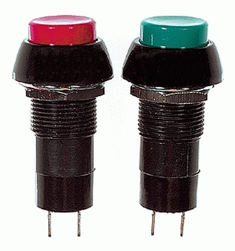 "SPST Momentary Switch, N/O 1/2"" (4) Multi-Colored"