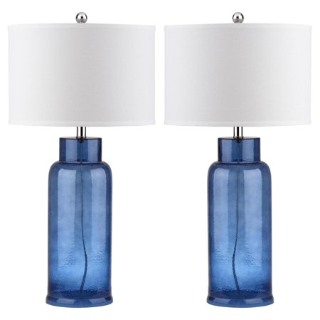Safavieh Bottle Glass Table Lamp with CFL Bulb, Multiple Colors, Set of 2 ()