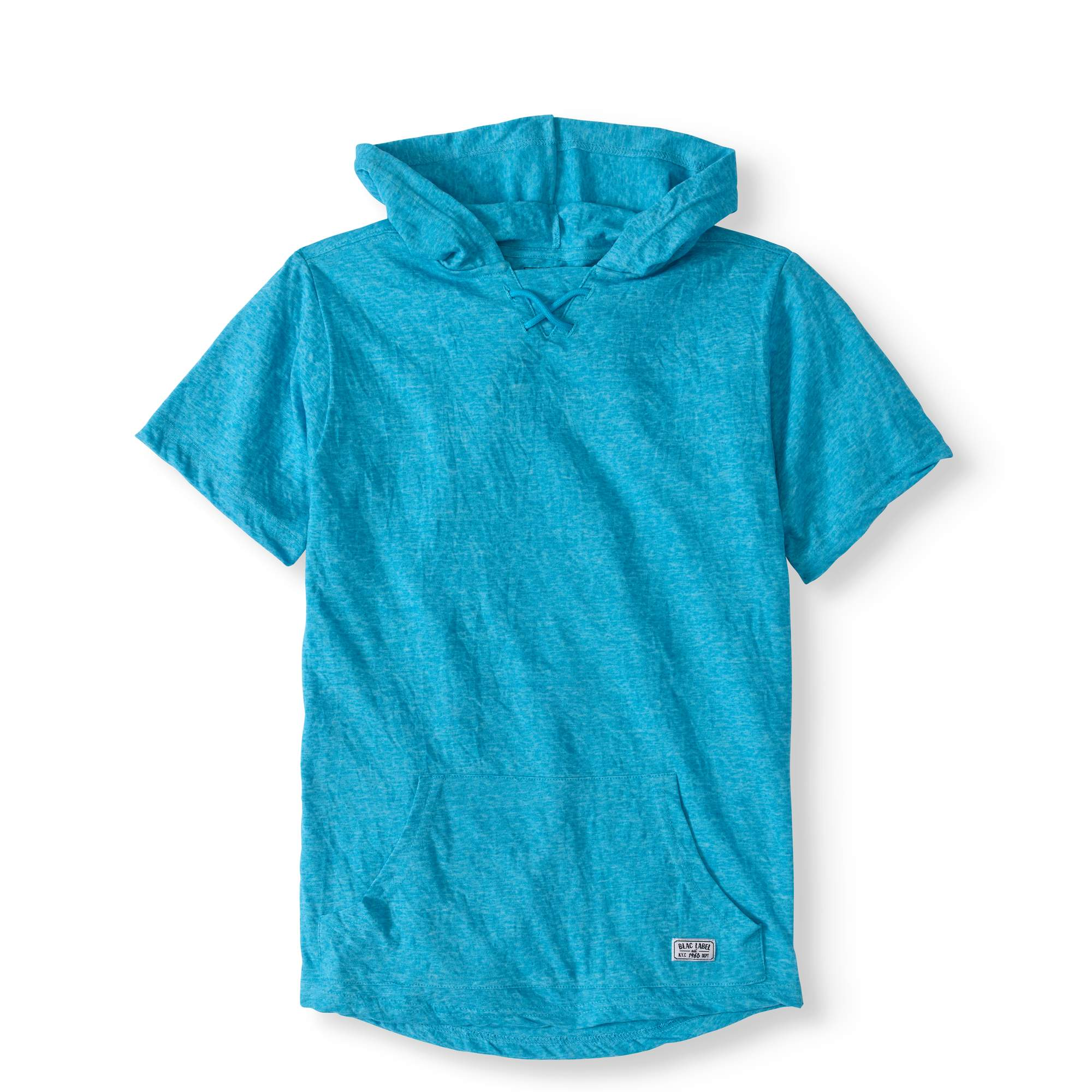 Big Boy Hooded Injected Slub Lace Up Tee With Kangaroo Pocket