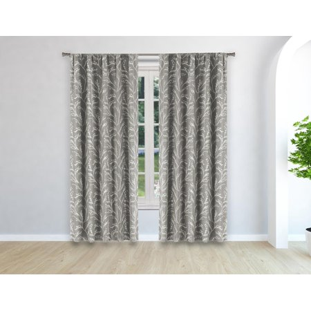 Peyton Woven Branches Window Curtain ()