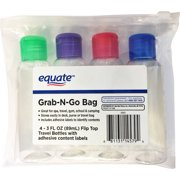 Equate Grab-N-Go Bag Travel Bottles Set, 5 pc by The Bottle Crew