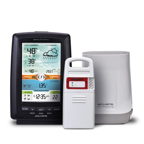 Chaney AcuRite Weather Station with Rain Gauge and Lightning Detector by Rain Gauges