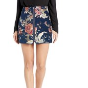 Women's Skirt Embroidered Zip Front Mini 4