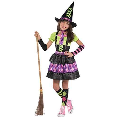 Ladies Black /& Purple Spellbound Witch Fancy Dress Halloween Costume