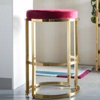 MoDRN Glam Marni Backless Bar Stool, Multiple Colors