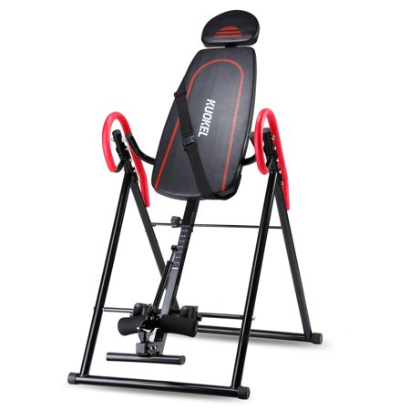 Ktaxon Deluxe Inversion Table Gravity Exercise Machine for Back Pain Relief Chiropractic (Black and Orange Optional)