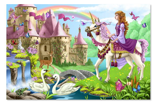 Melissa & Doug Fairy Tale Castle Jumbo Jigsaw Floor Puzzle (48 pcs, 2 x 3 feet) by Melissa & Doug