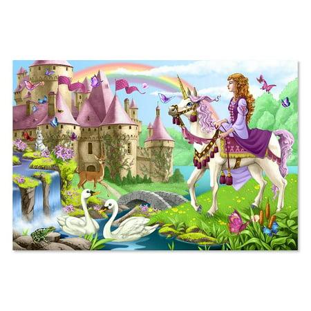Melissa & Doug Fairy Tale Castle Jumbo Jigsaw Floor Puzzle (48 pcs, 2 x 3 feet)