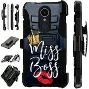 LuxGuard Phone Case Cover For LG Stylo 4 | Stylo 4 Plus | Q Stylus Q Plus Q Alpha (Miss Boss)