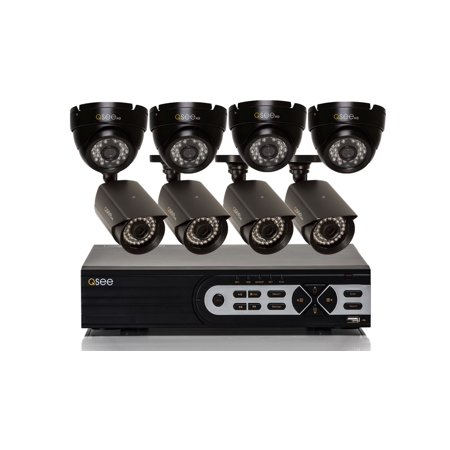 Q-See 8 Channel TVI Analog Security System with 8 Cameras (4 Dome/4 Bullet) 1080p Cameras, 2TB Hard Drive