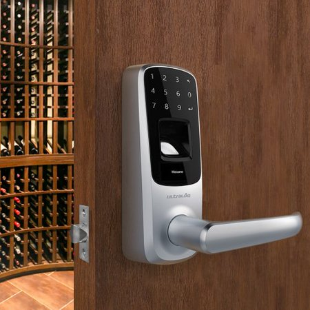Fingerprint Door Lock - Ultraloq UUL-UL3-BT-SN UL3 Bluetooth-Enabled Fingerprint & Touchscreen Smart Lock (Satin Nickel)