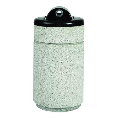 Round Top Entry Ash Urn in Whitestone Concrete Composite (Graystone)