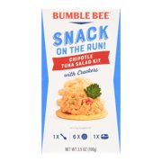 Bumble Bee Snack On The Run! Chipotle Tuna with Crackers, 3.5 oz Tuna Snack Kit, Good Source of Protein