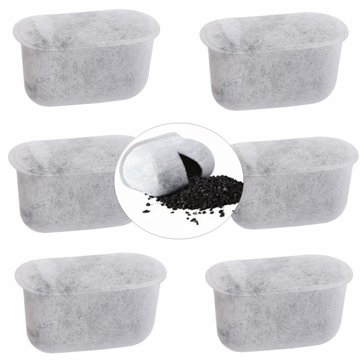 Set of 6 Replacement Charcoal Water Filters for Cuisinart Coffee Maker