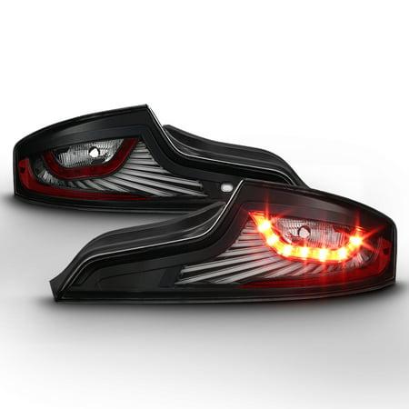 2003 2005 Infiniti G35 Black Clear Lens Light Bar Full Led Signal Function Tail Lights Pair Rear Left Right 2004