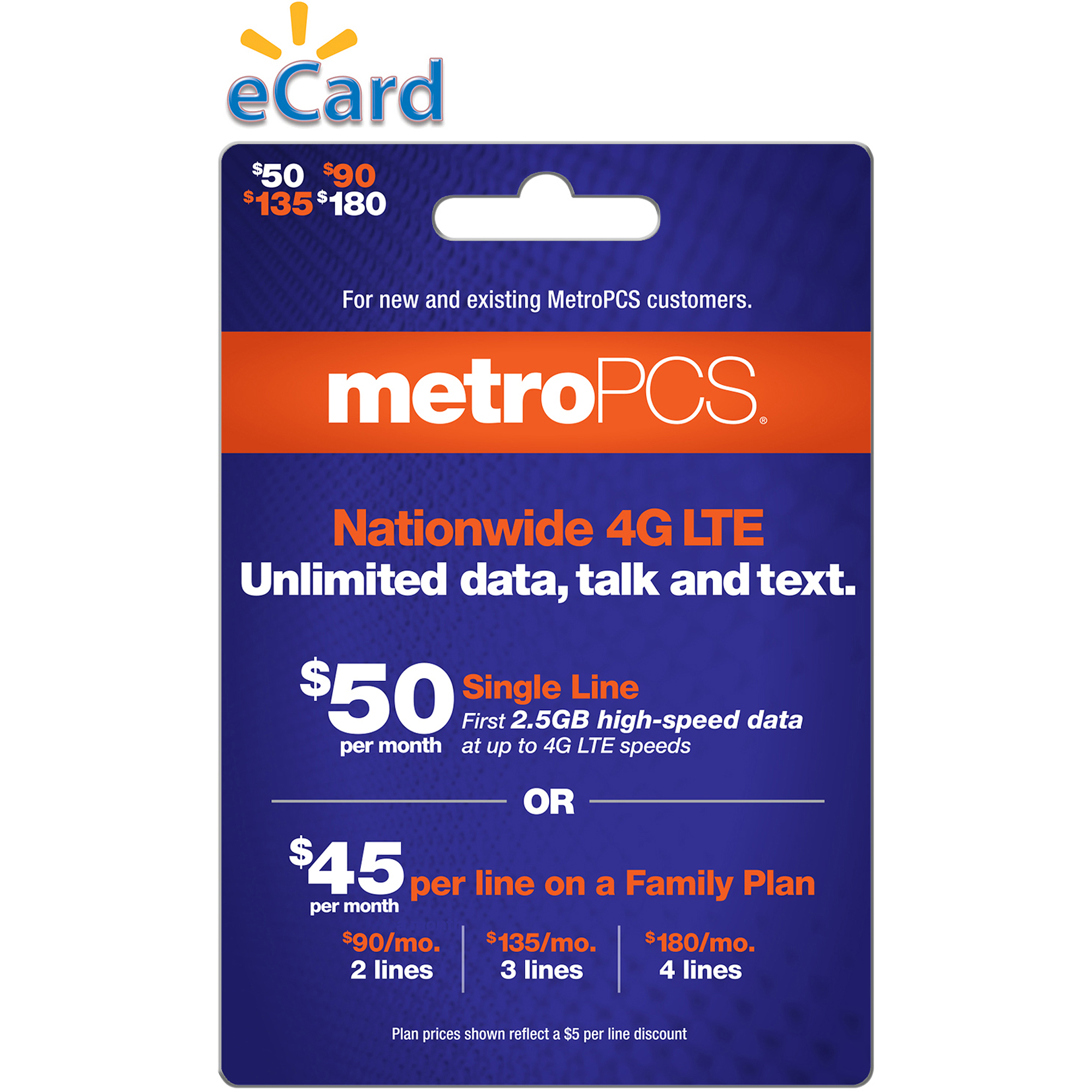 (Email Delivery) MetroPCS Monthly Unlimited, $50