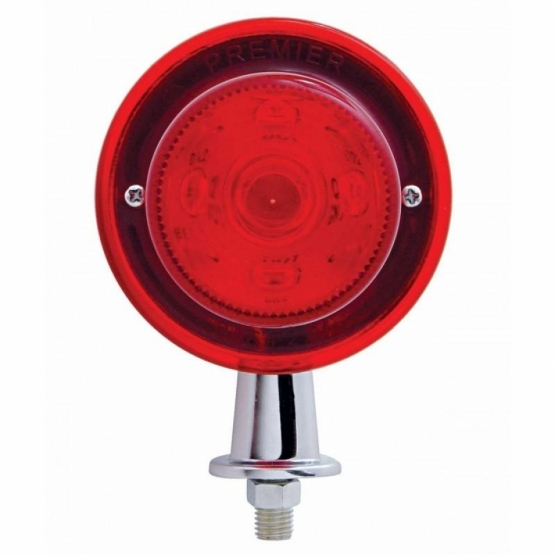 "13 LED 1 1/8"" Arm Honda Light Kit - Red LED/Red Lens"