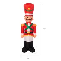 Holiday Time Yard Inflatables Toy Soldier, 4 ft