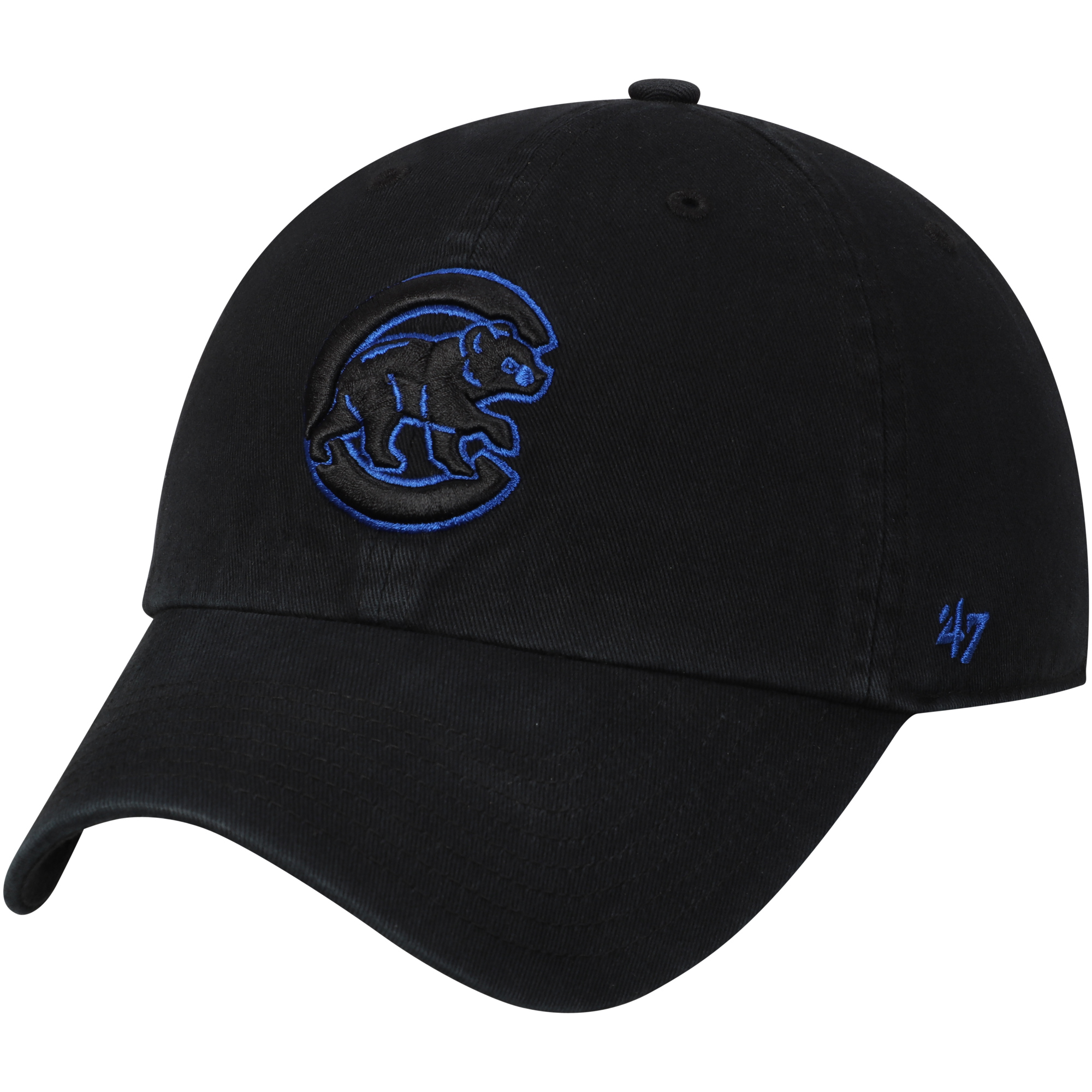 Chicago Cubs '47 Team Color Clean Up Adjustable Hat - Black - OSFA