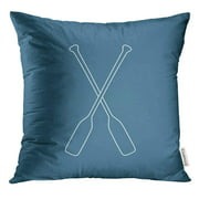 BSDHOME Race Crossed Oars Design Boats Collection Kayak Pillow Case 18x18 Inches Pillowcase