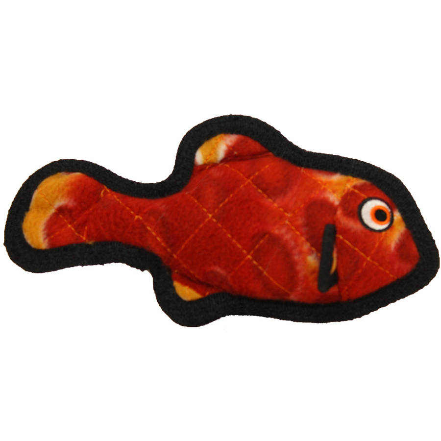 Juguete Para Perros Tuffy Ocean Creature Jr. Fish, Red + Dogs Toys en VeoyCompro.net