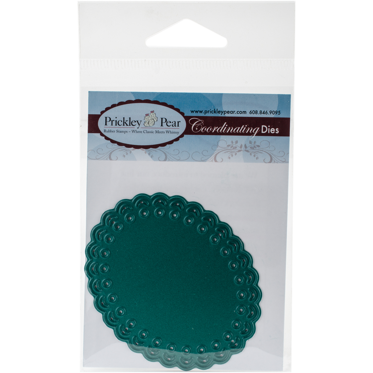 "Prickley Pear Die-Scalloped Oval, 2.25""X2.75"""