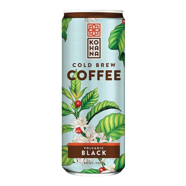 Kohana Cold Brew Coffee Beverage - Volcanic Black - pack of 12 - 8 Fl Oz.