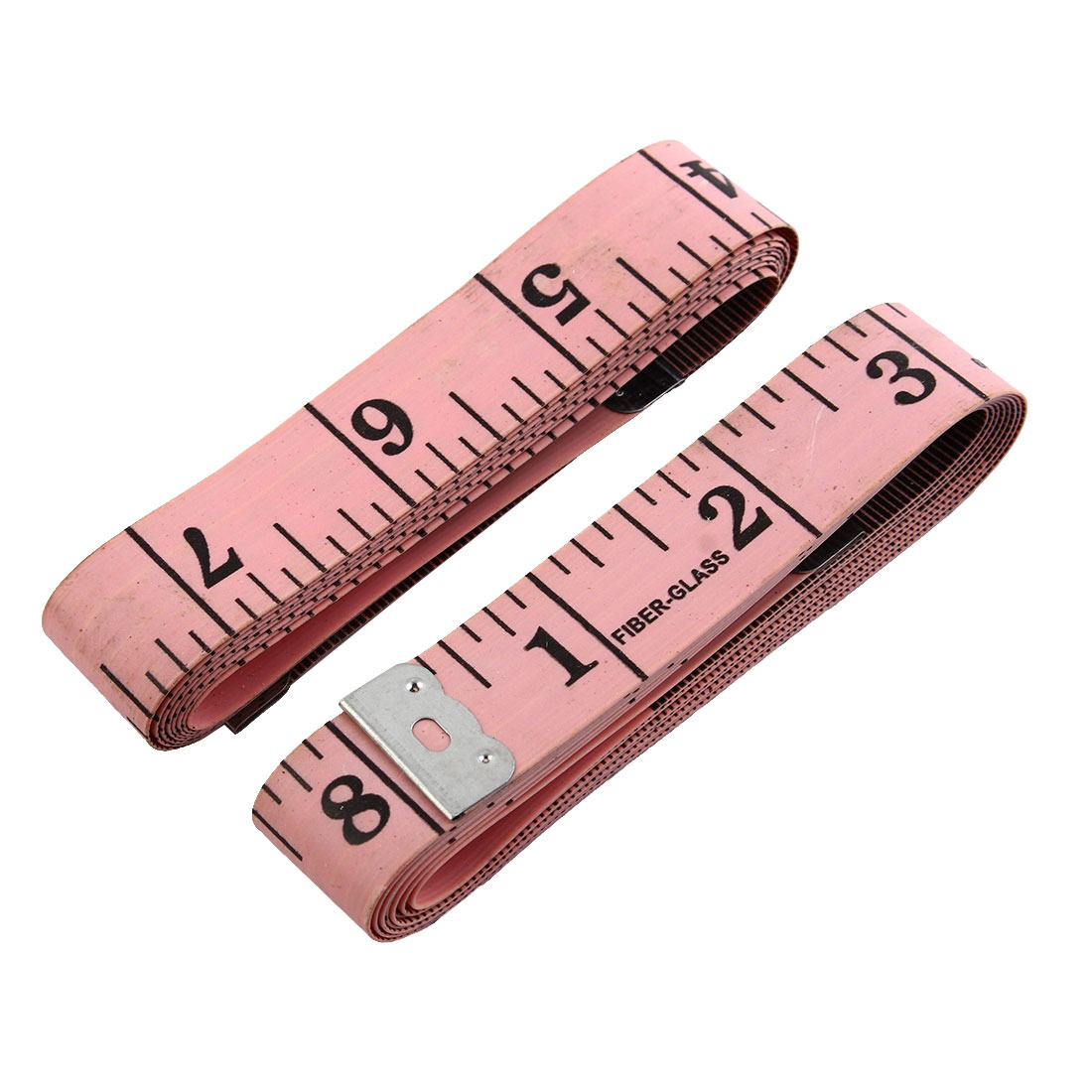Unique Bargains Sewing Tailor Clothes Body Measure Tape Soft Ruler Pink 150cm Length 2pcs