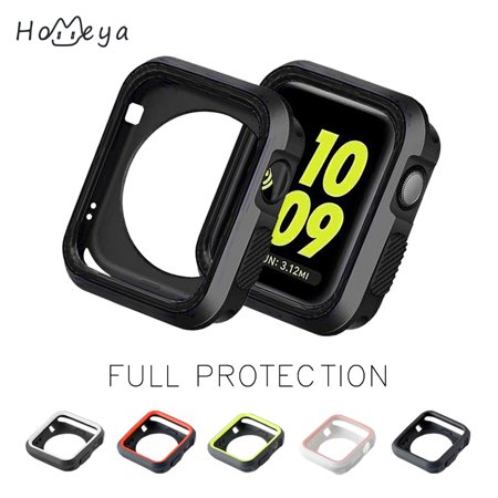 Cast Metal Plate (Series 3 Apple Watch Case Cover [38mm],homeya Rugged Armor Slim Shock-proof and Shatter Resistant TPU Screen Protector Case Ultra-Slim Metal Plated Hard Cover for Apple Watch)