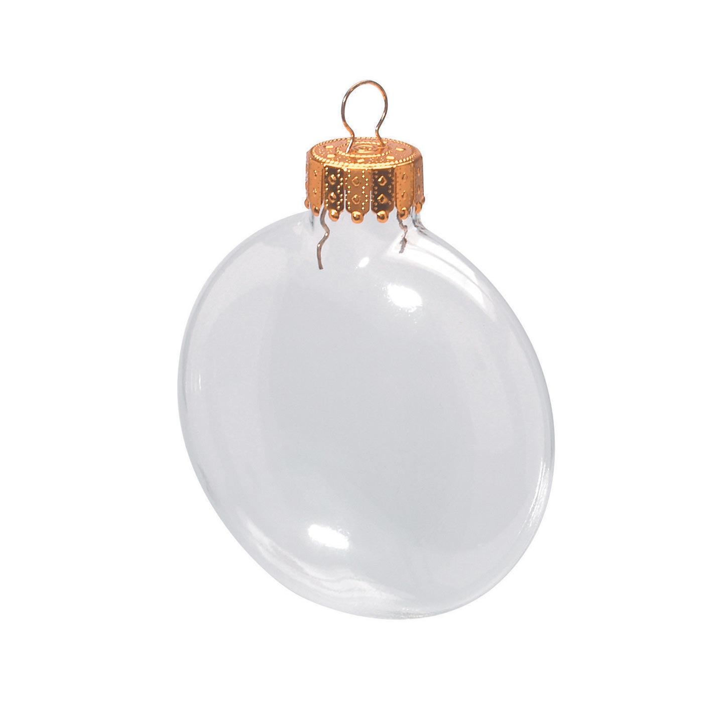 Darice Fillable Clear Glass Ornaments: 3.125-inch Discs, 6 pack