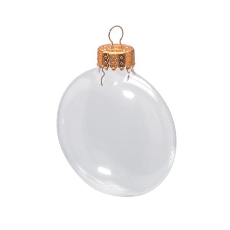 Beeswax Ornament (Darice Fillable Clear Glass Ornaments: 3.125-inch Discs, 6)