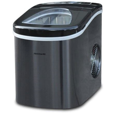 Frigidaire 26 lb. Countertop Ice Maker Black Stainless Steel EFIC117SSBLKCOM - Refurbished