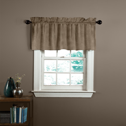 Veratex, Inc. Velvet Soft Luxury Tailored Curtain Valance