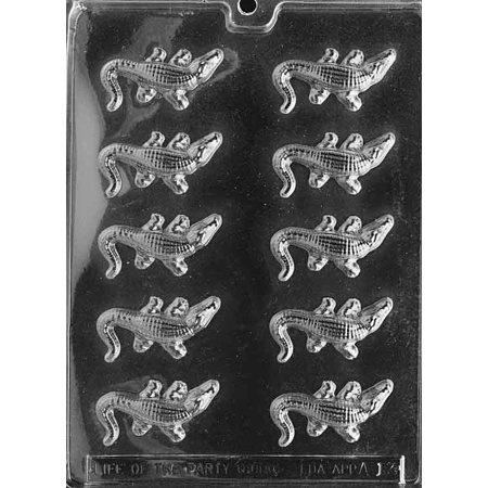 Small Alligator Chocolate Mold - A013 - Includes Melting & Chocolate Molding - Alligator Mold