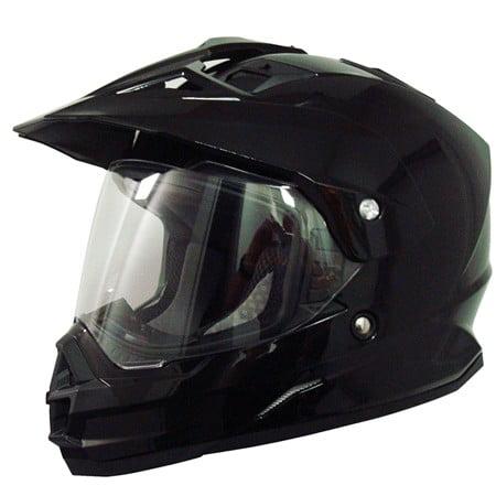 AFX FX-39DS Dual Sport Solid Full-face Helmet Black MD