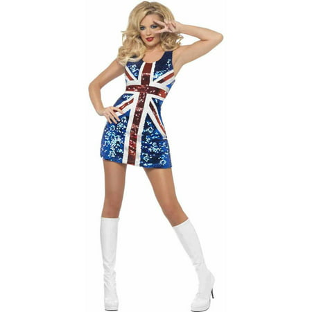All That Glitters Rule Britannia Union Jack Dress Women's Adult Halloween Costume - Jack Happy Halloween